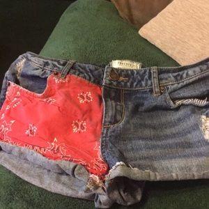 Forevwr21 short shorts /blue jeans